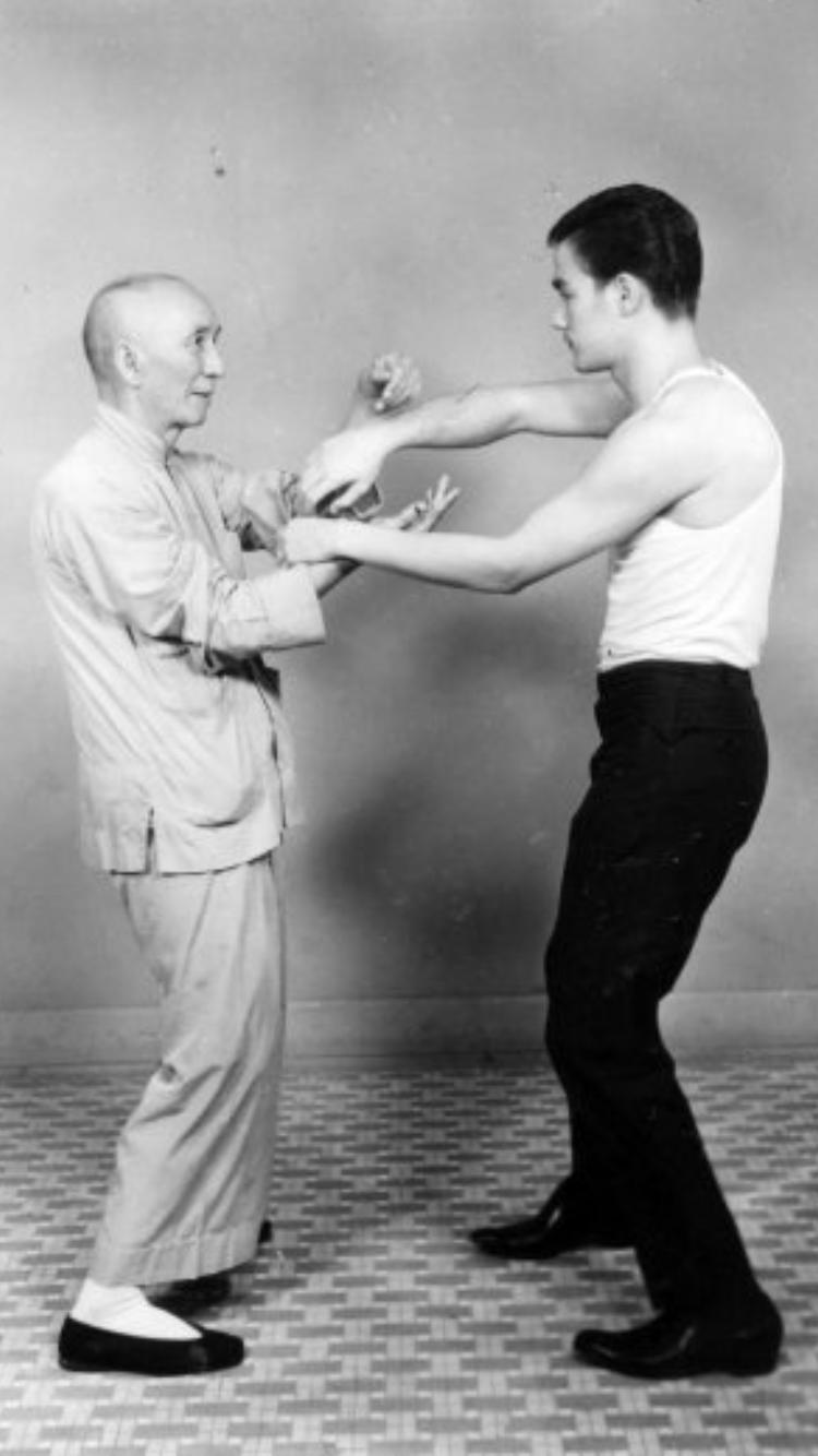 Chi Sao Patriarca Ip Man con Bruce Lee